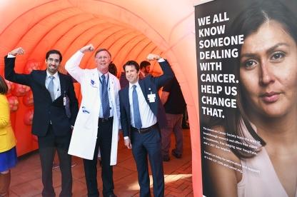 Dr. Atif Iqbal with Drs. Osborne and Musher.