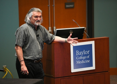 Dr. Eduardo Salas, professor and chair of psychological sciences at Rice University, gave the keynote address.