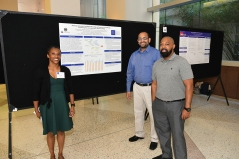 Nurse Shuntay Dorsey presented her poster to conference attendees.