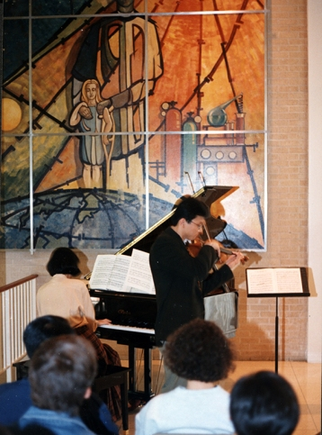 A piano and violin recital.