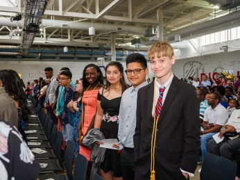 Rusk 8th graders at their promotion ceremony.