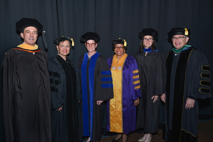 Dr. Klotman with honorary degree recipients.
