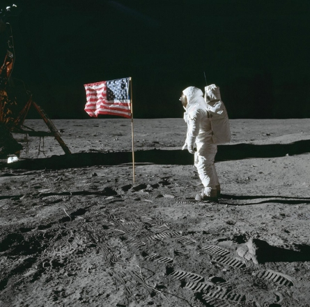Man on the moon was one giant step for mankind.
