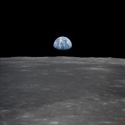 Earth, seen from the moon.