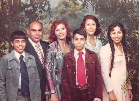 Dr. Salih Wakil and his family at the time of their move to Houston.