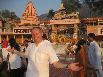 Outside the ashram.