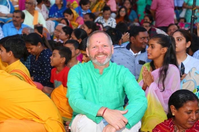 Ed Fink at the ashram.