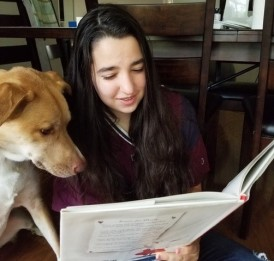 """Naama Machol reads from the """"Olivia"""" series."""