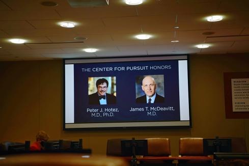 Honoring Dr. Hotez and Dr. McDeavitt