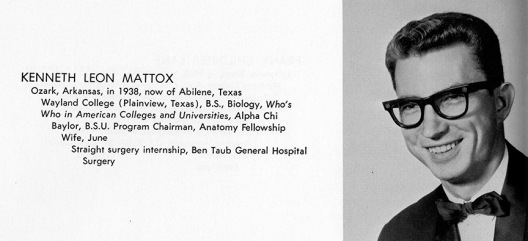 Dr. Mattox as a medical student.