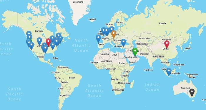 HGSC Hackathon participant map